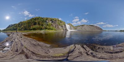 Montmorency Fall Quebec Canada view 30.09.2019