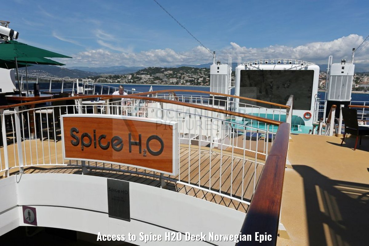 Access to Spice H2O Deck Norwegian Epic