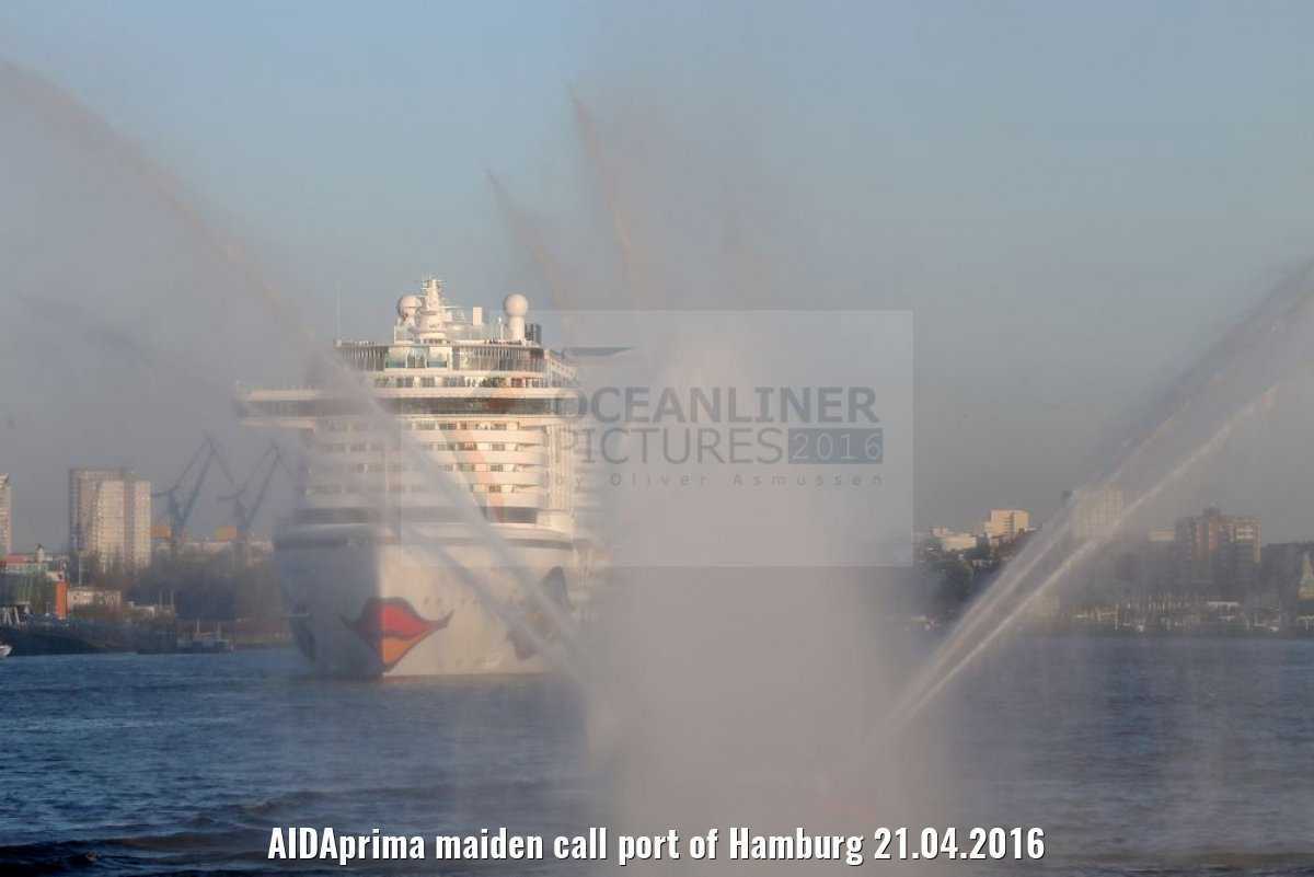 AIDAprima maiden call port of Hamburg 21.04.2016
