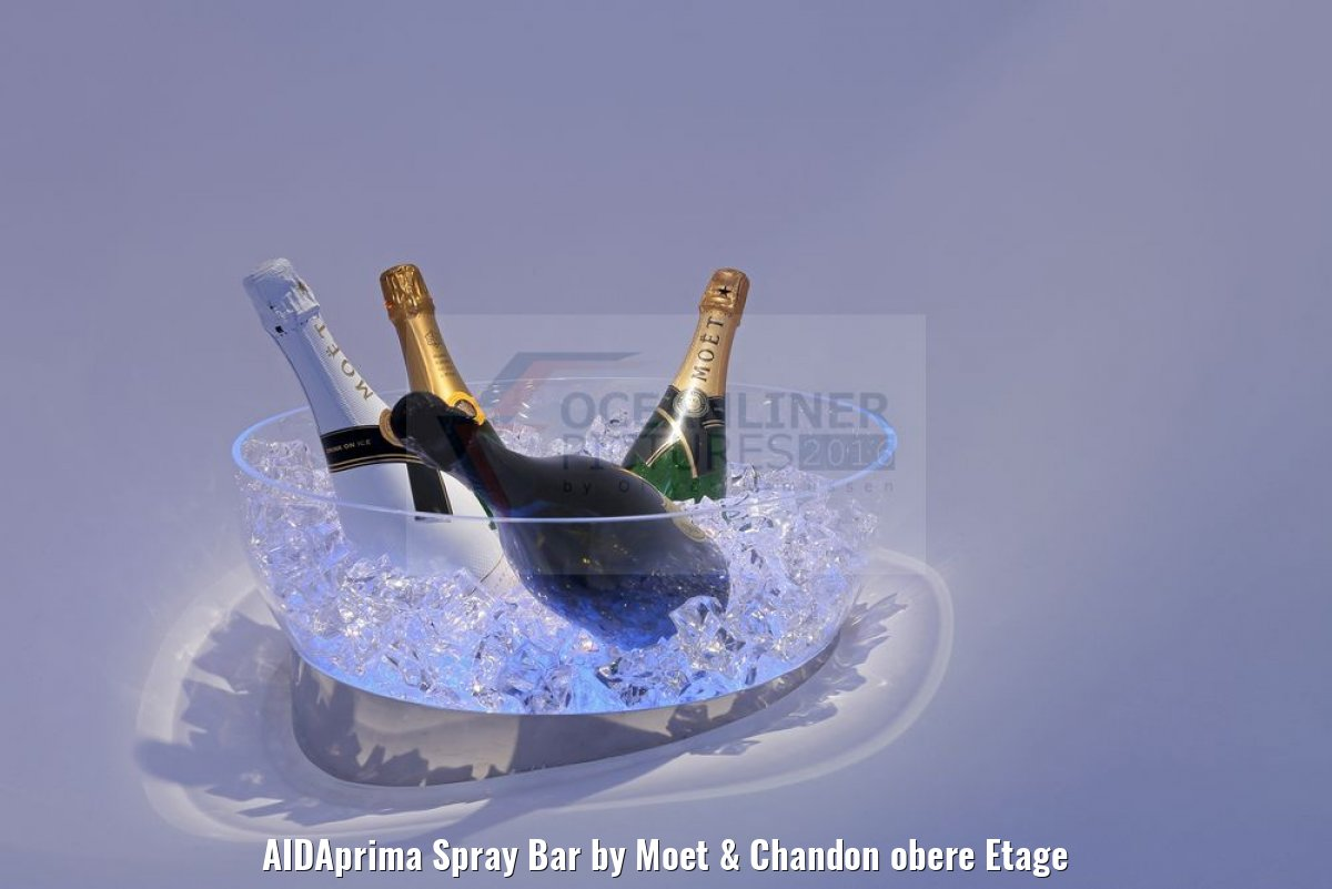 AIDAprima Spray Bar by Moet & Chandon obere Etage