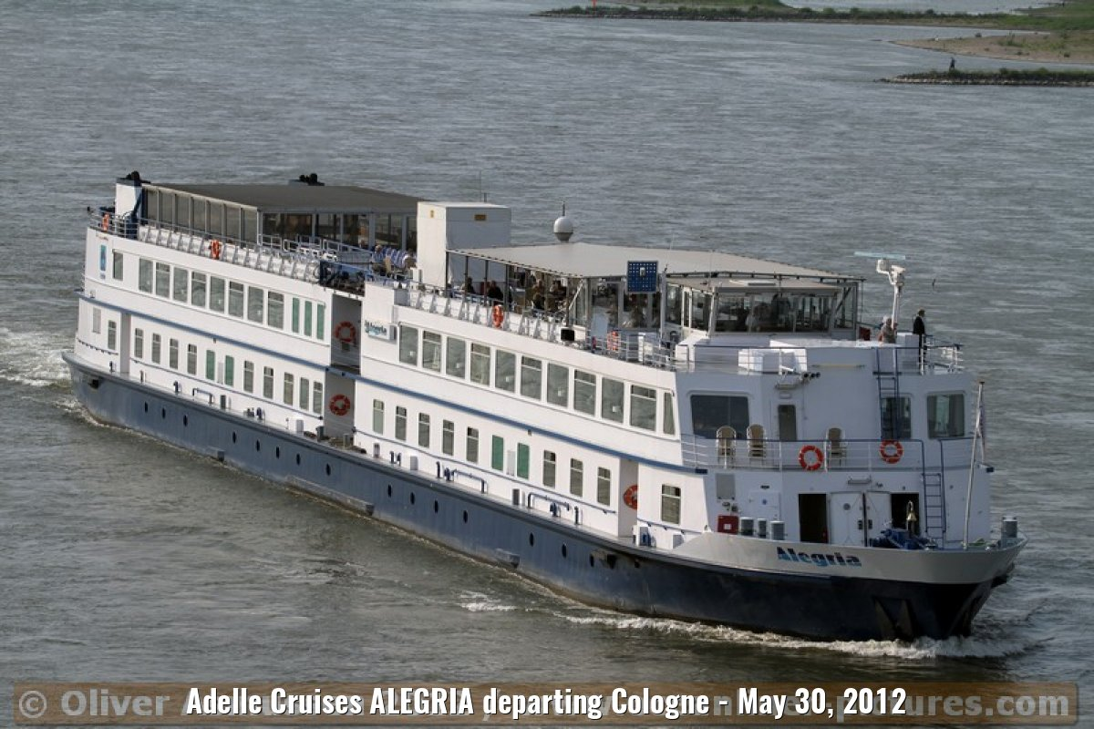 Adelle Cruises ALEGRIA departing Cologne - May 30, 2012