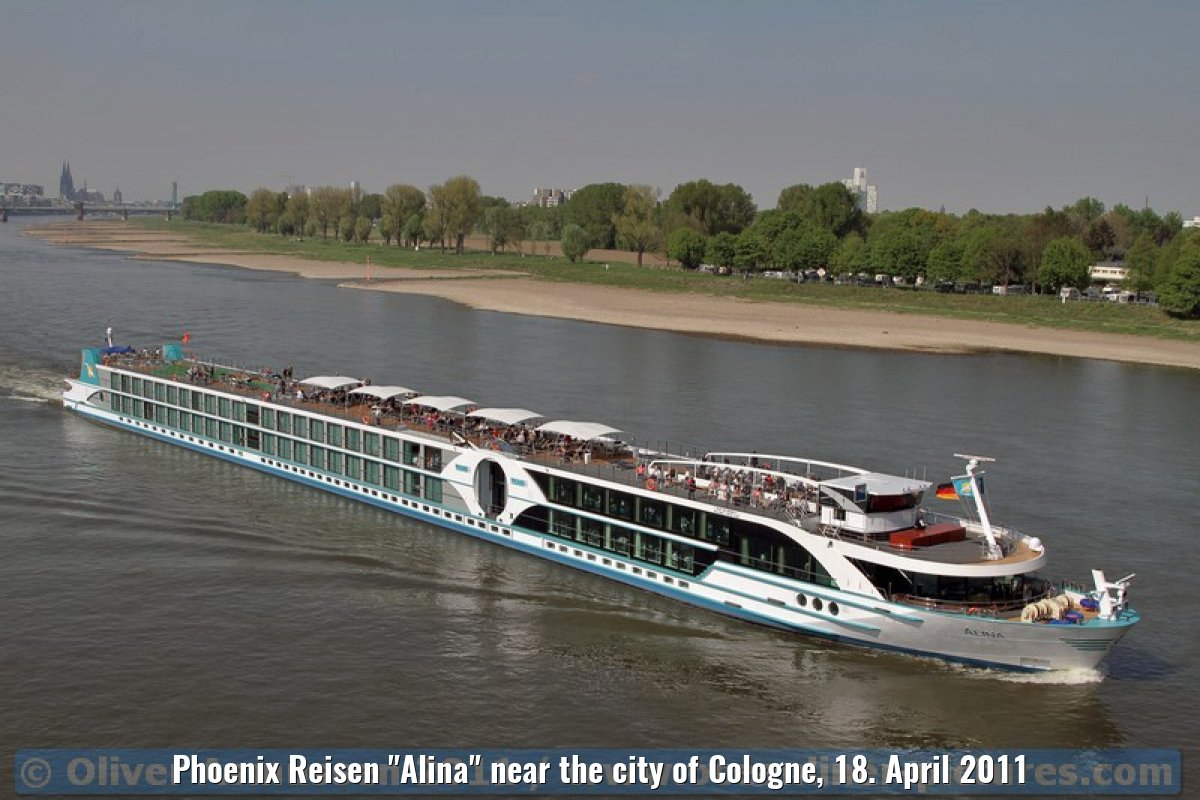 "Phoenix Reisen ""Alina"" near the city of Cologne, 18. April 2011"