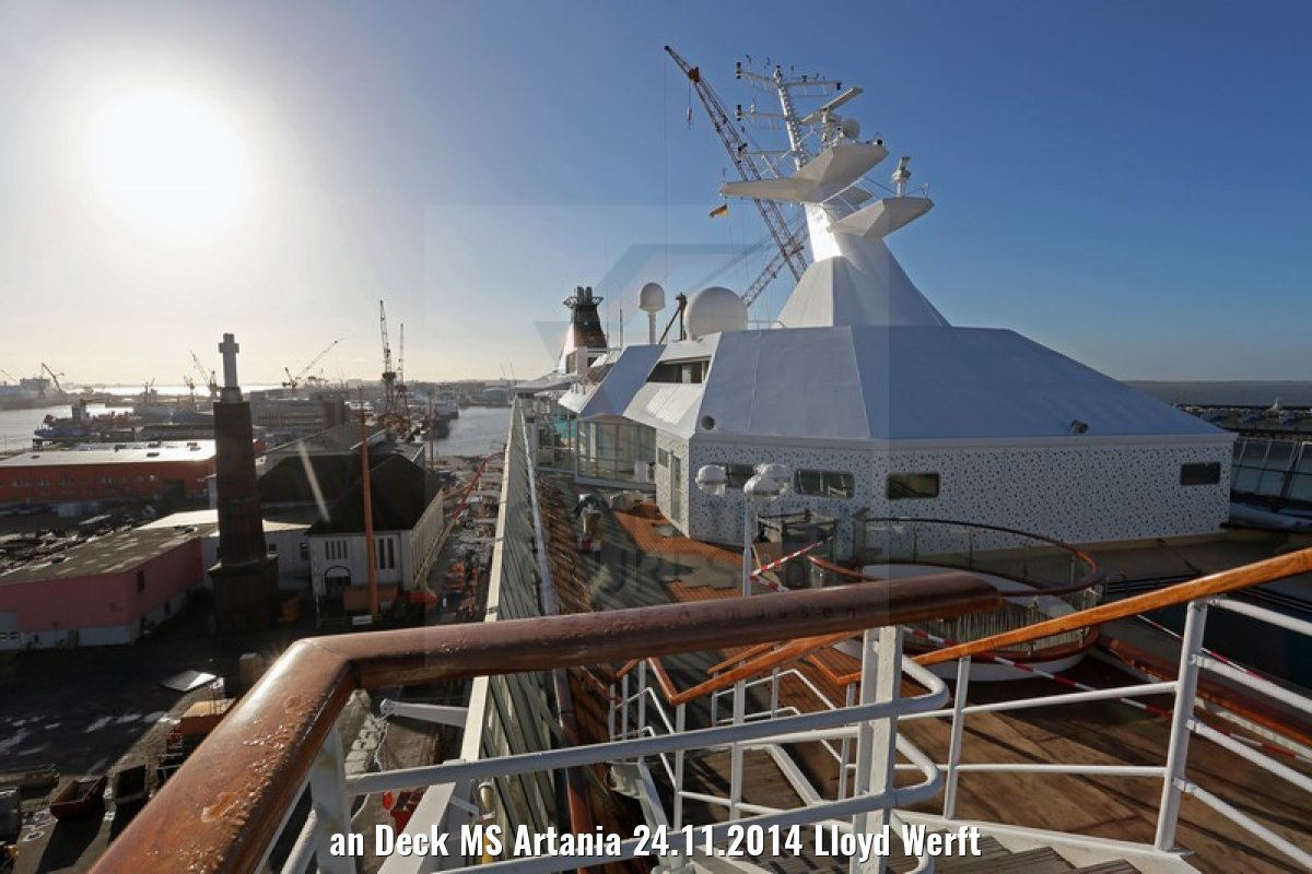 an Deck MS Artania 24.11.2014 Lloyd Werft