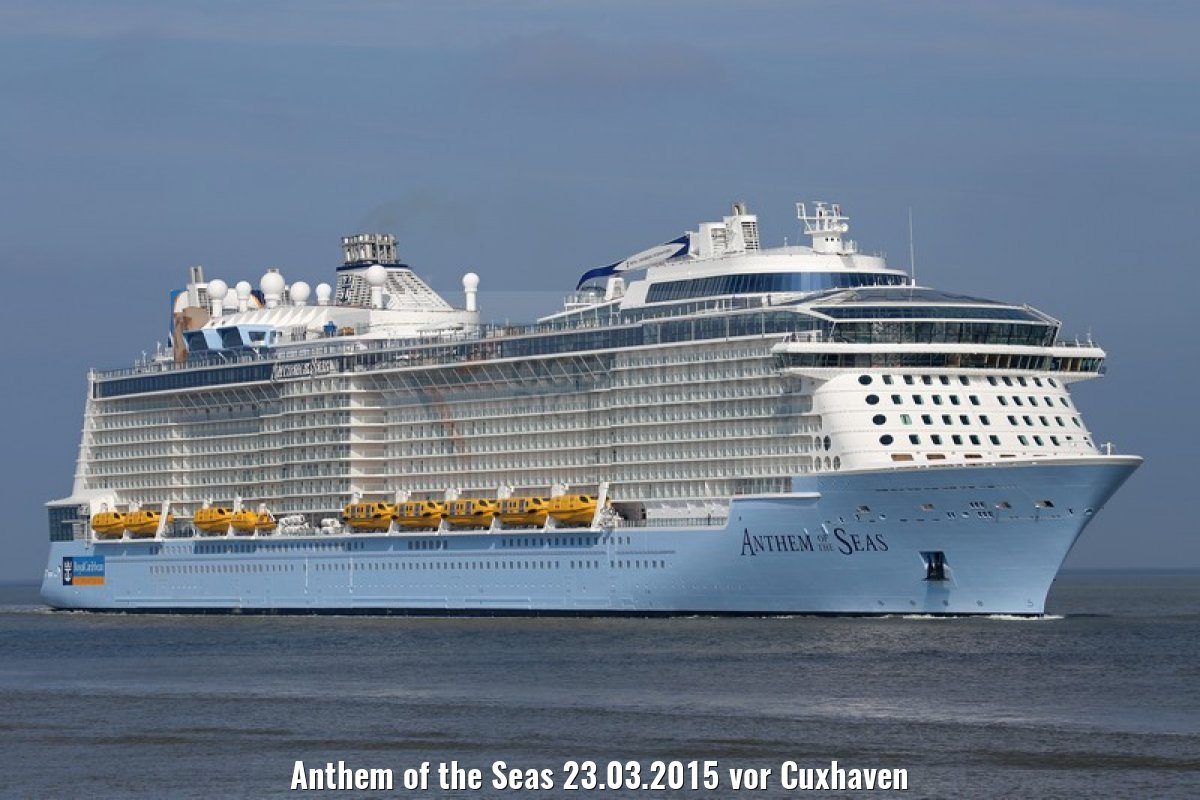 Anthem of the Seas 23.03.2015 vor Cuxhaven