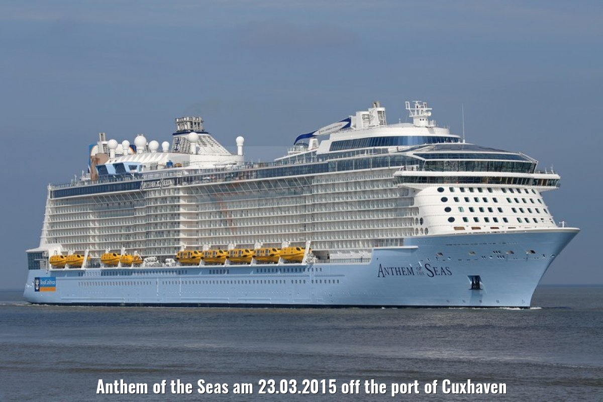 Anthem of the Seas am 23.03.2015 off the port of Cuxhaven