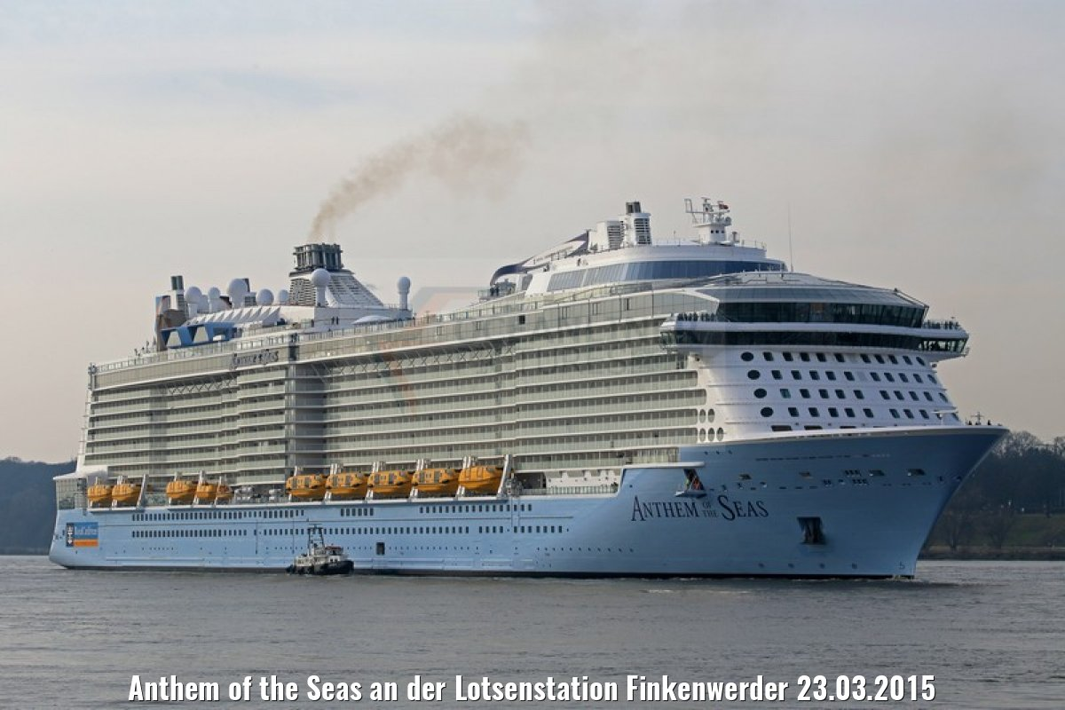 Anthem of the Seas an der Lotsenstation Finkenwerder 23.03.2015