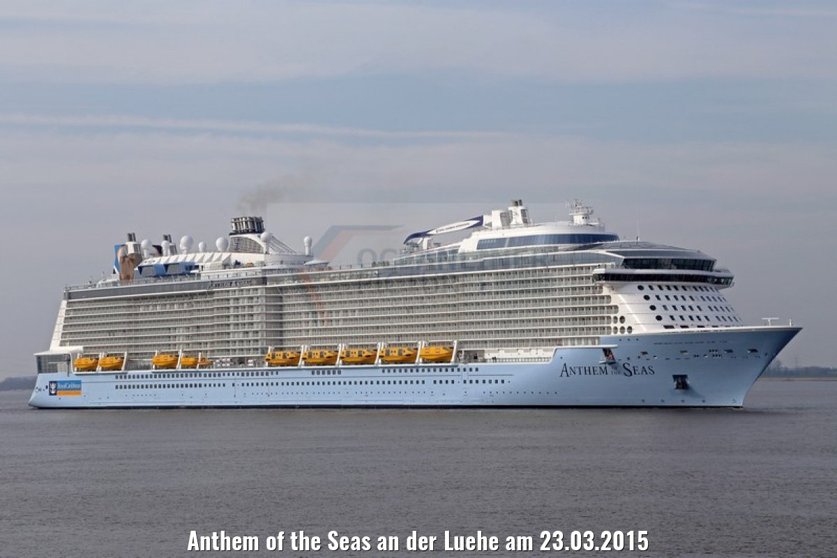 Anthem of the Seas an der Luehe am 23.03.2015