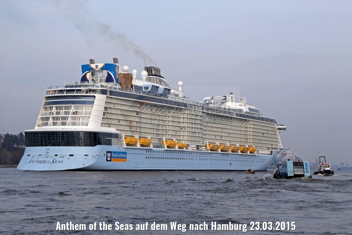 Anthem of the Seas auf dem Weg nach Hamburg 23.03.2015