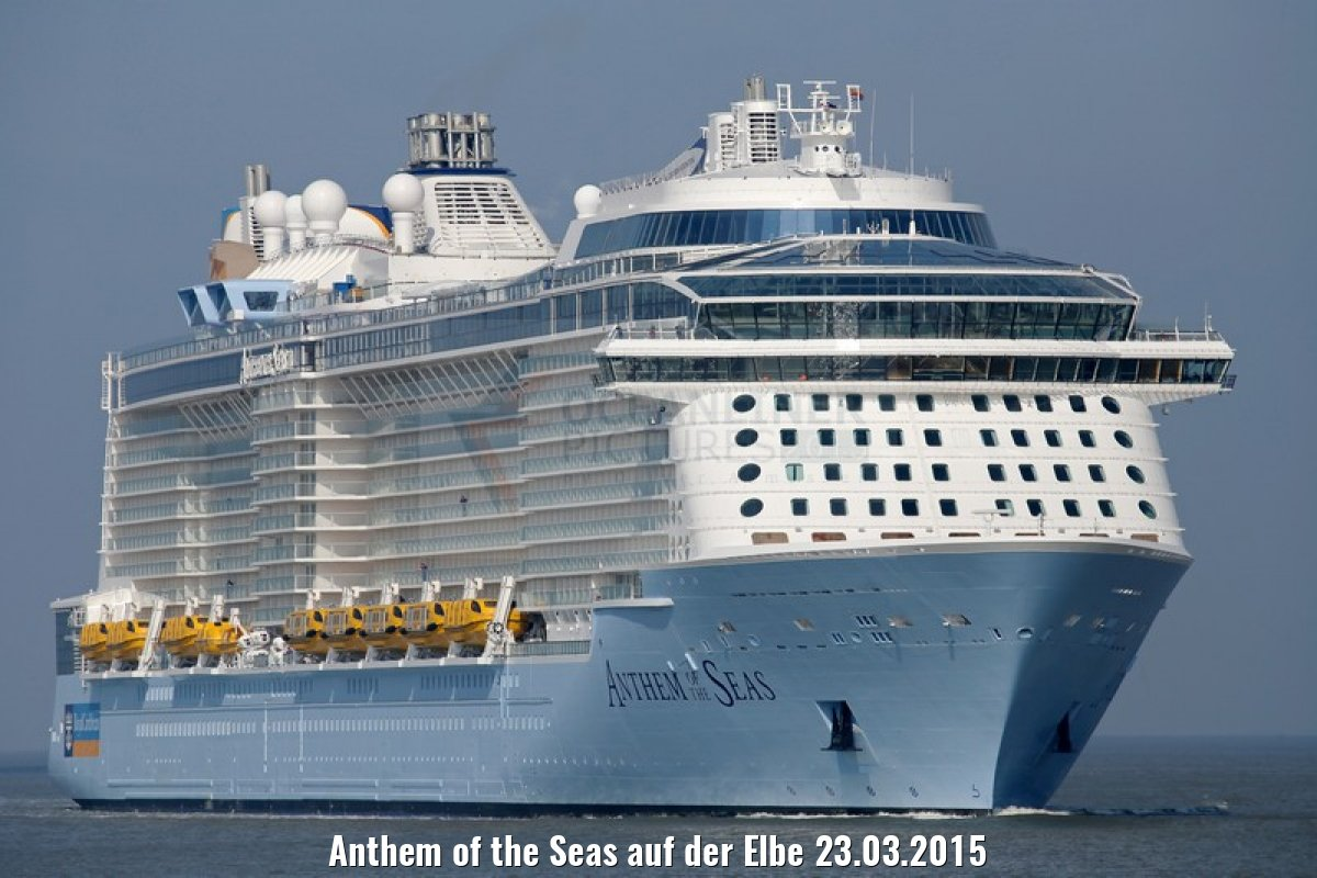 Anthem of the Seas auf der Elbe 23.03.2015