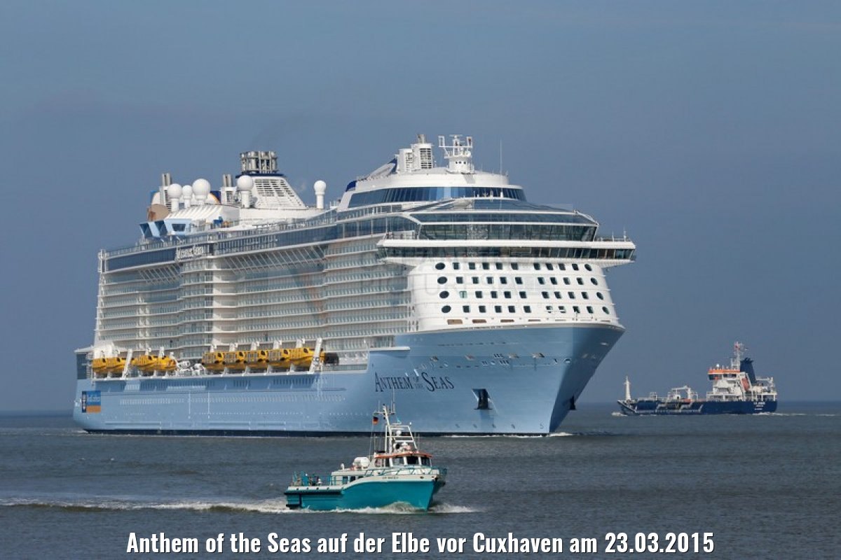 Anthem of the Seas auf der Elbe vor Cuxhaven am 23.03.2015