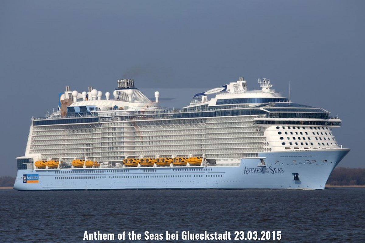 Anthem of the Seas bei Glueckstadt 23.03.2015