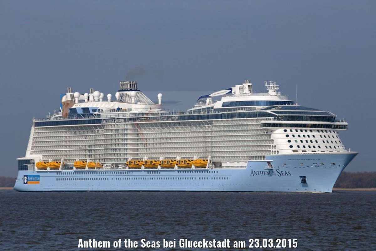 Anthem of the Seas bei Glueckstadt am 23.03.2015