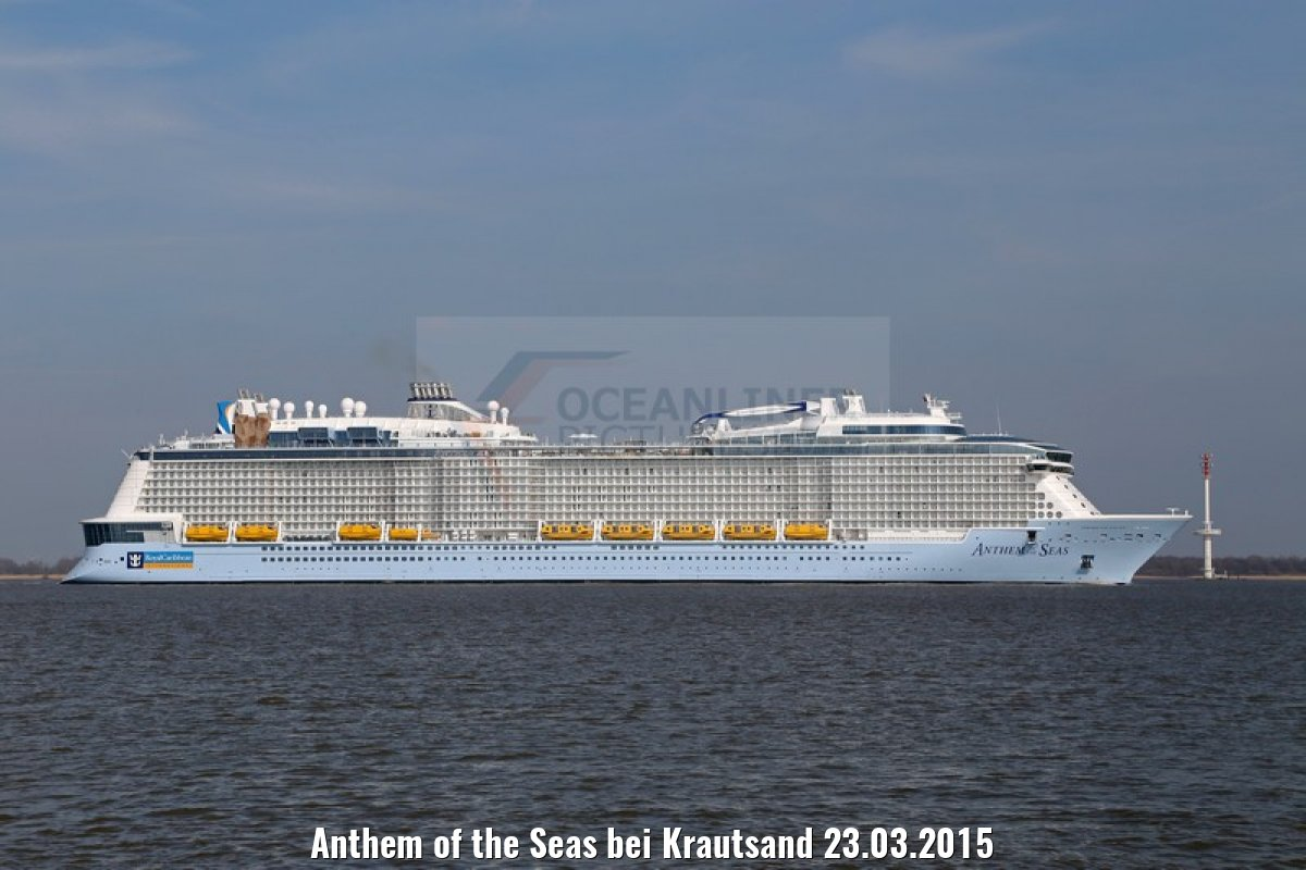 Anthem of the Seas bei Krautsand 23.03.2015