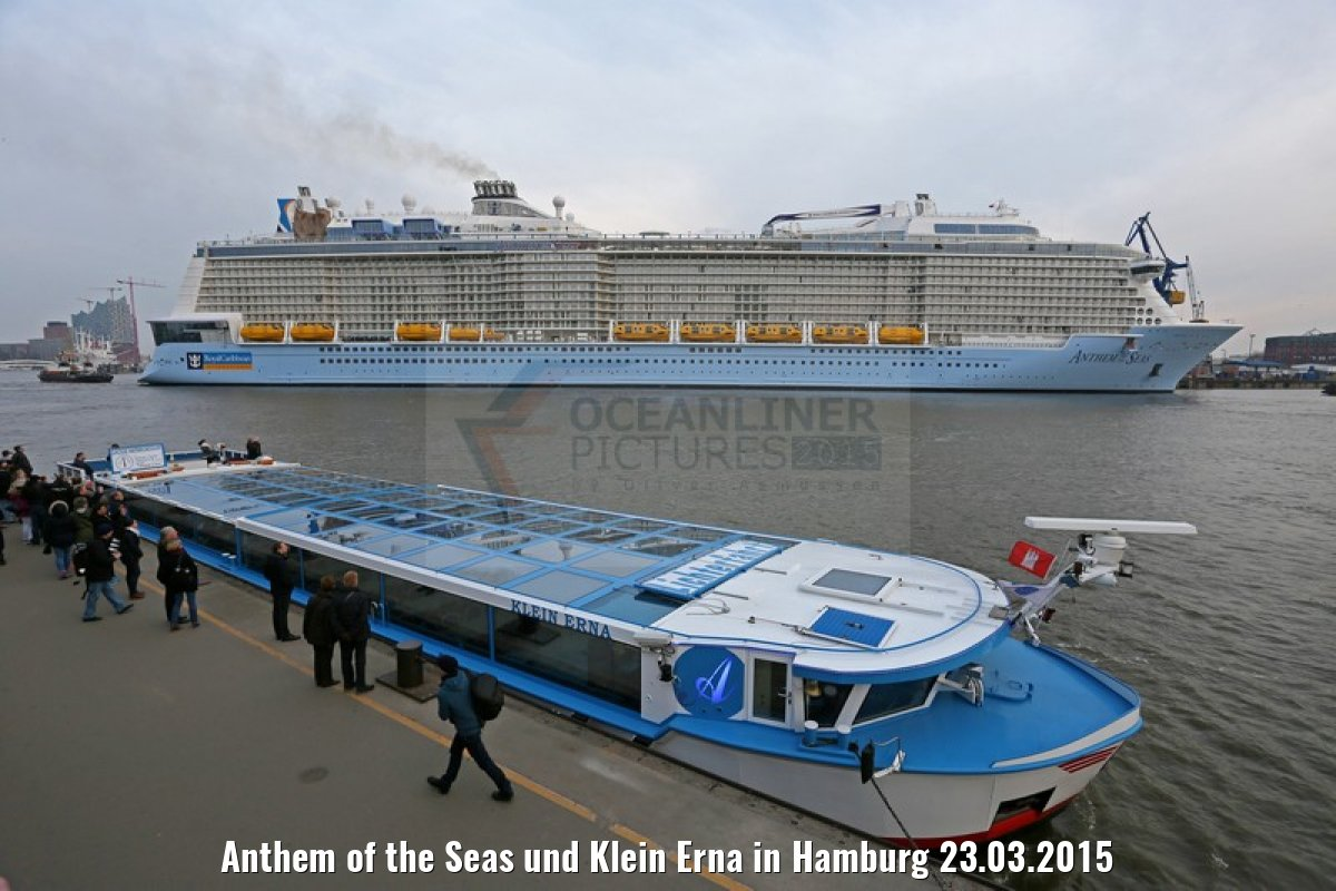 Anthem of the Seas und Klein Erna in Hamburg 23.03.2015
