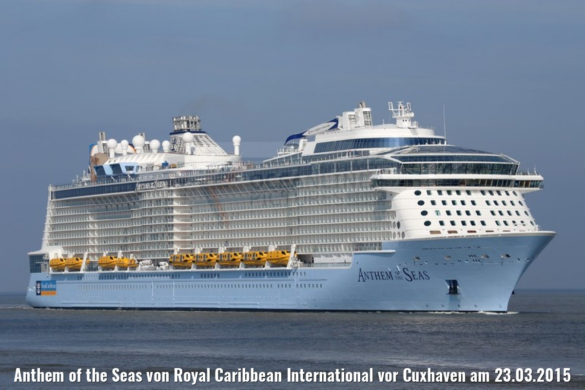 Anthem of the Seas von Royal Caribbean International vor Cuxhaven am 23.03.2015