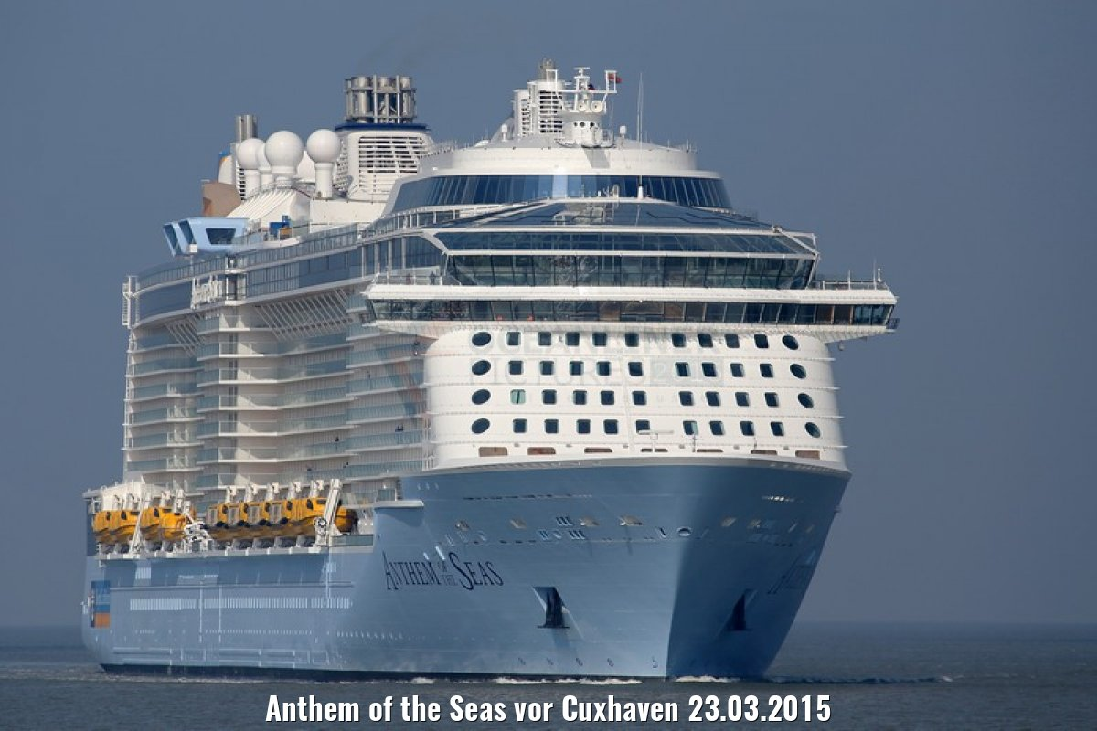 Anthem of the Seas vor Cuxhaven 23.03.2015