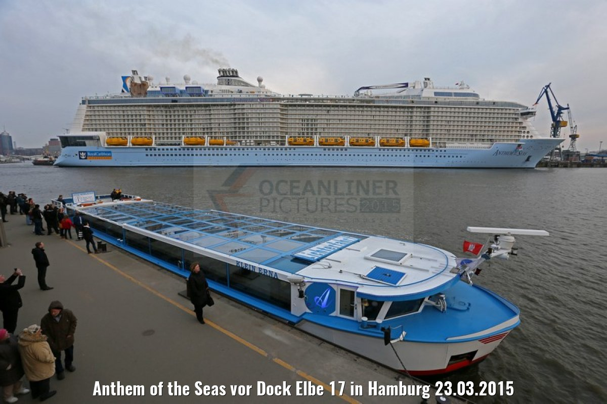 Anthem of the Seas vor Dock Elbe 17 in Hamburg 23.03.2015