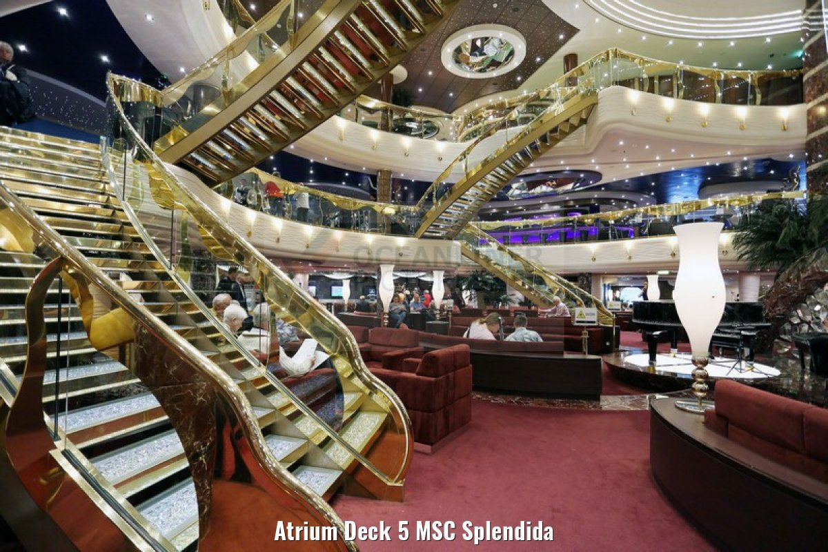 Atrium Deck 5 MSC Splendida