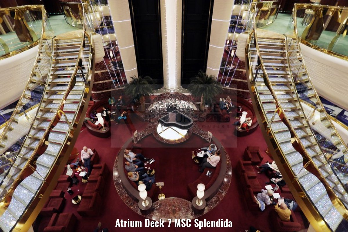 Atrium Deck 7 MSC Splendida