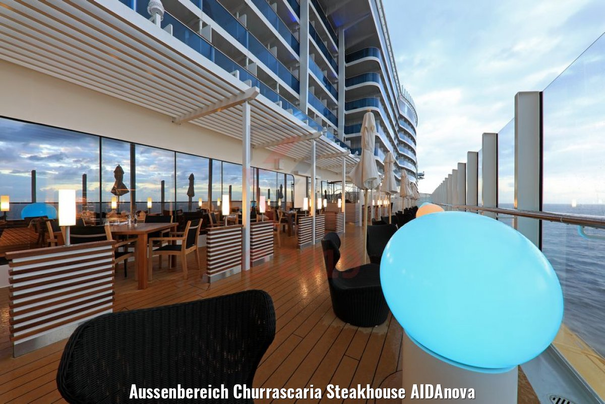 Aussenbereich Churrascaria Steakhouse AIDAnova