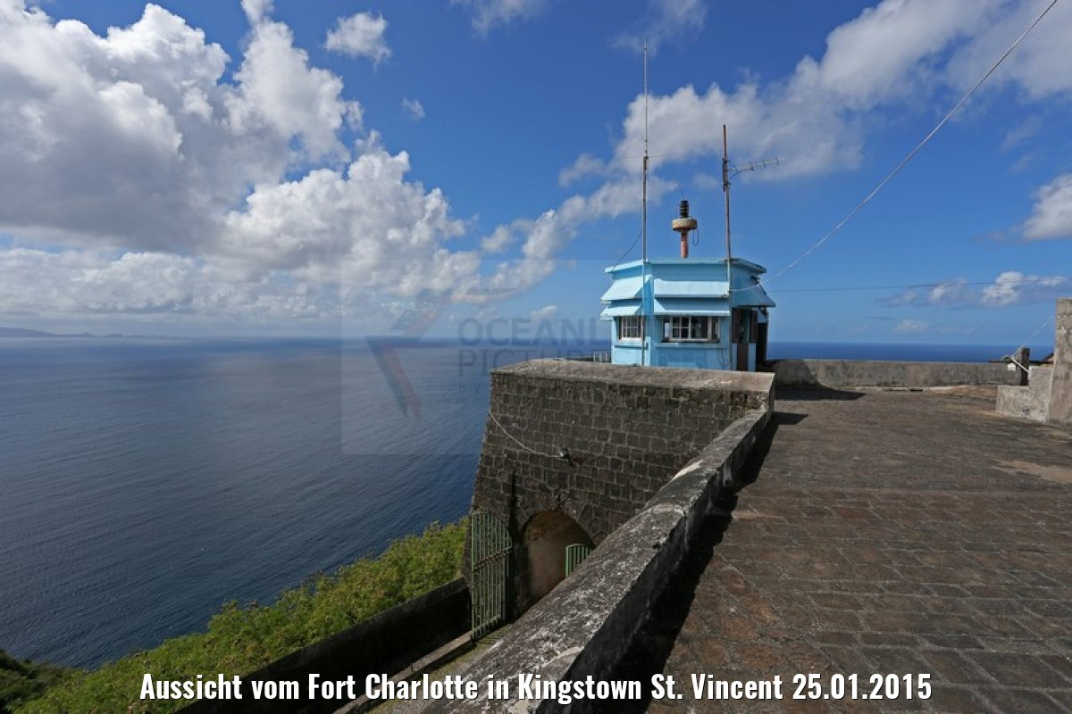 Aussicht vom Fort Charlotte in Kingstown St. Vincent 25.01.2015