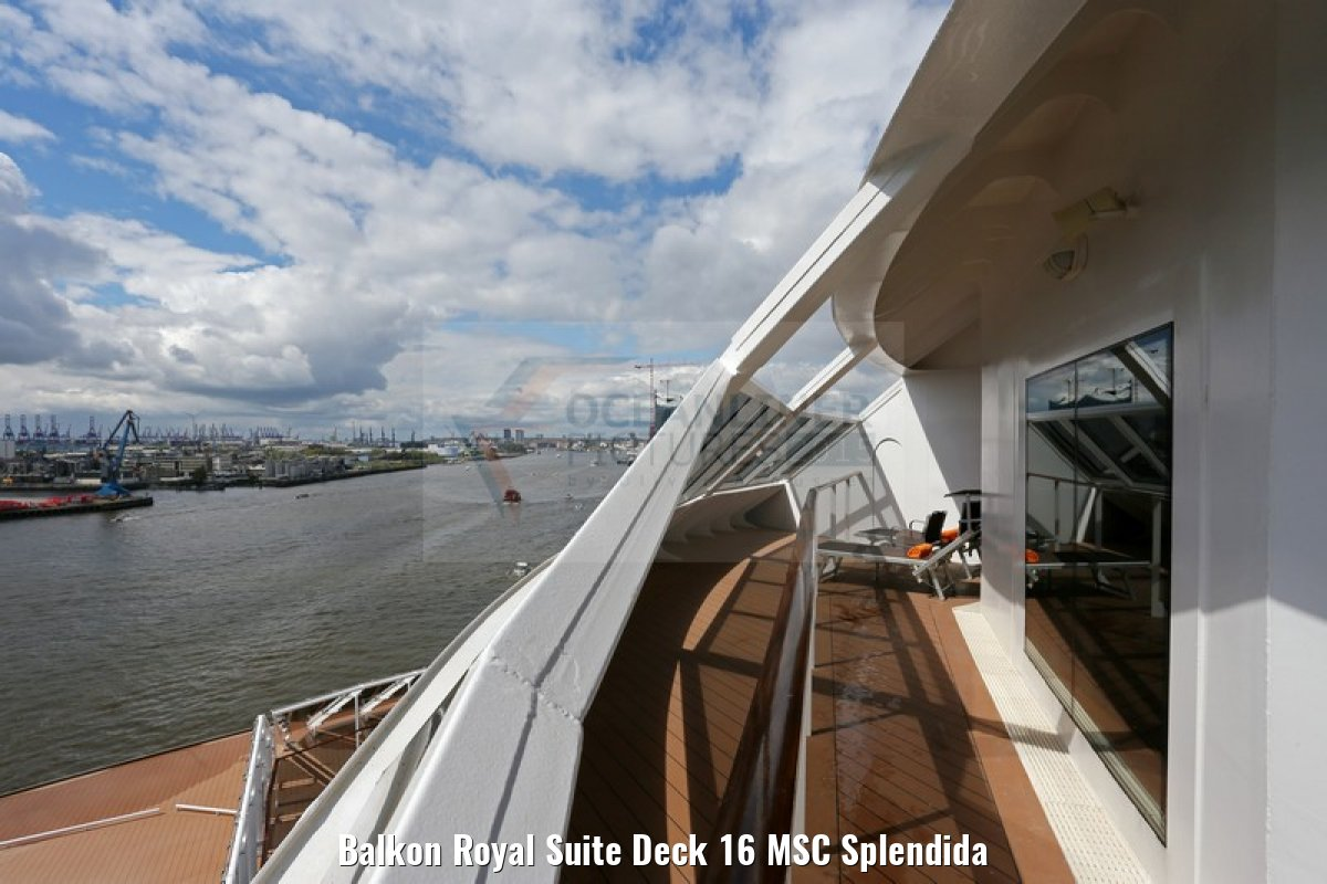 Balkon Royal Suite Deck 16 MSC Splendida