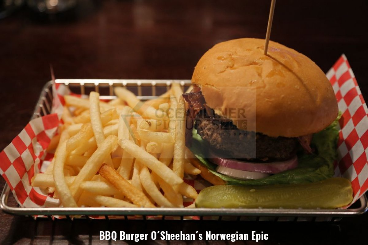 BBQ Burger O´Sheehan´s Norwegian Epic