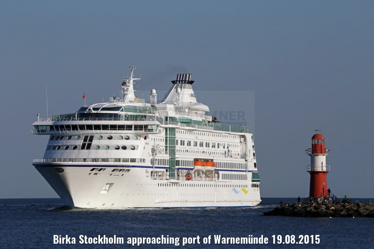 Birka Stockholm approaching port of Warnemünde 19.08.2015