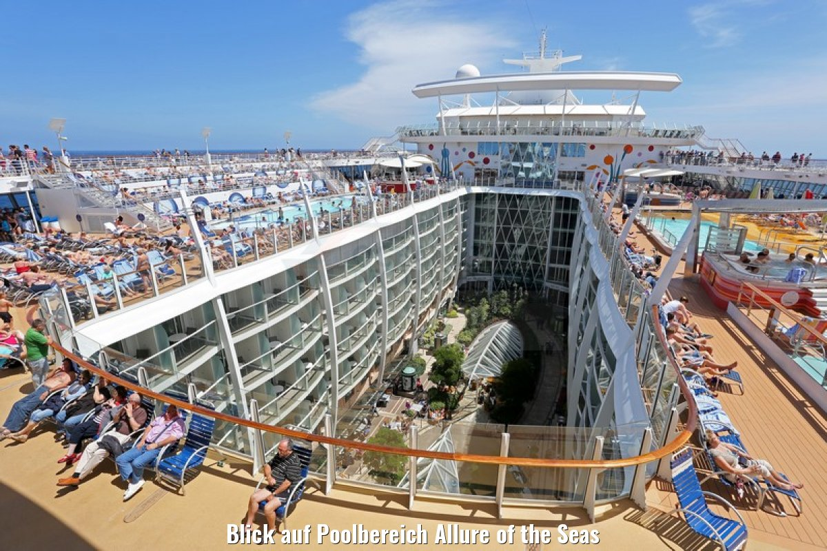 Blick auf Poolbereich Allure of the Seas