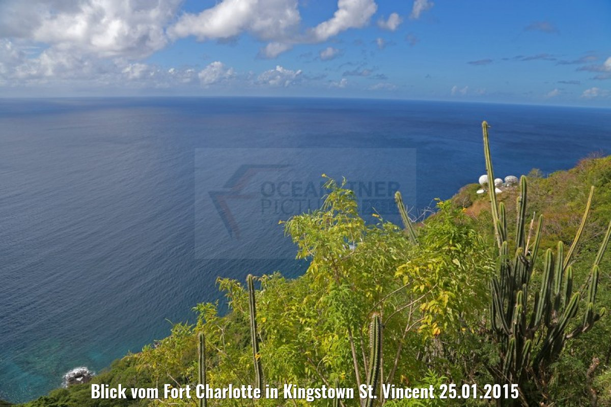 Blick vom Fort Charlotte in Kingstown St. Vincent 25.01.2015