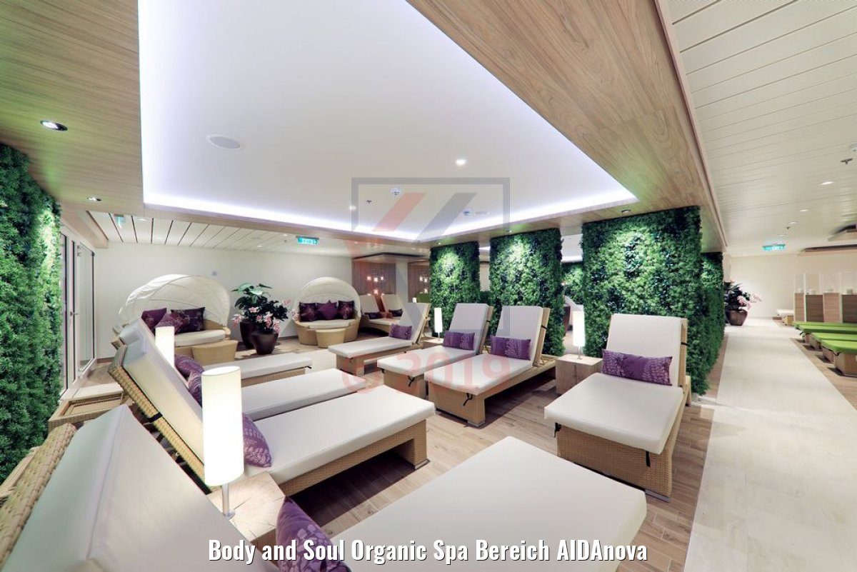 Body and Soul Organic Spa Bereich AIDAnova