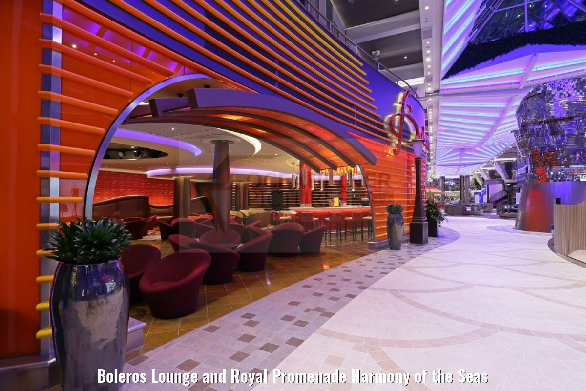 Boleros Lounge and Royal Promenade Harmony of the Seas
