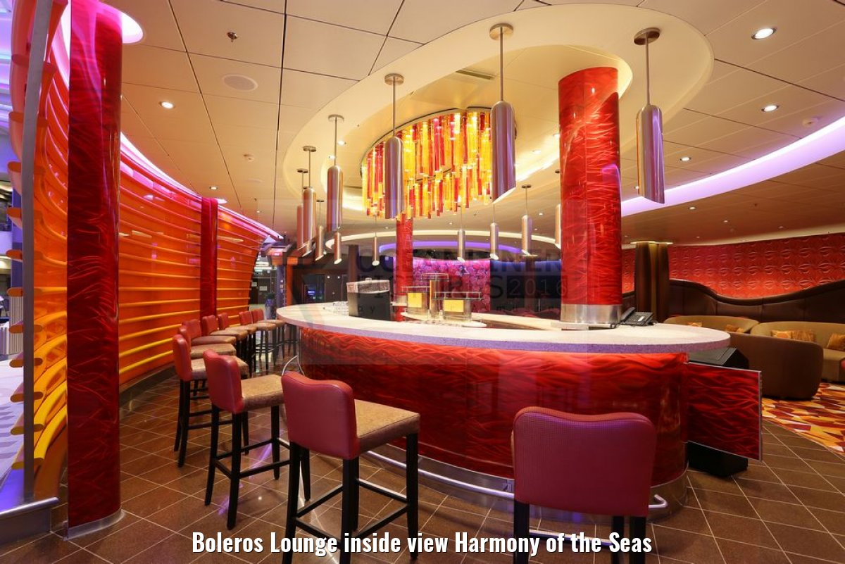 Boleros Lounge inside view Harmony of the Seas
