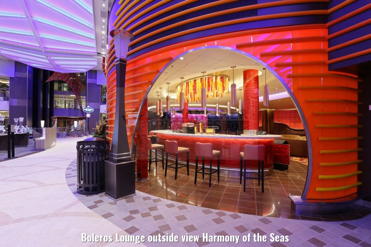 Boleros Lounge outside view Harmony of the Seas