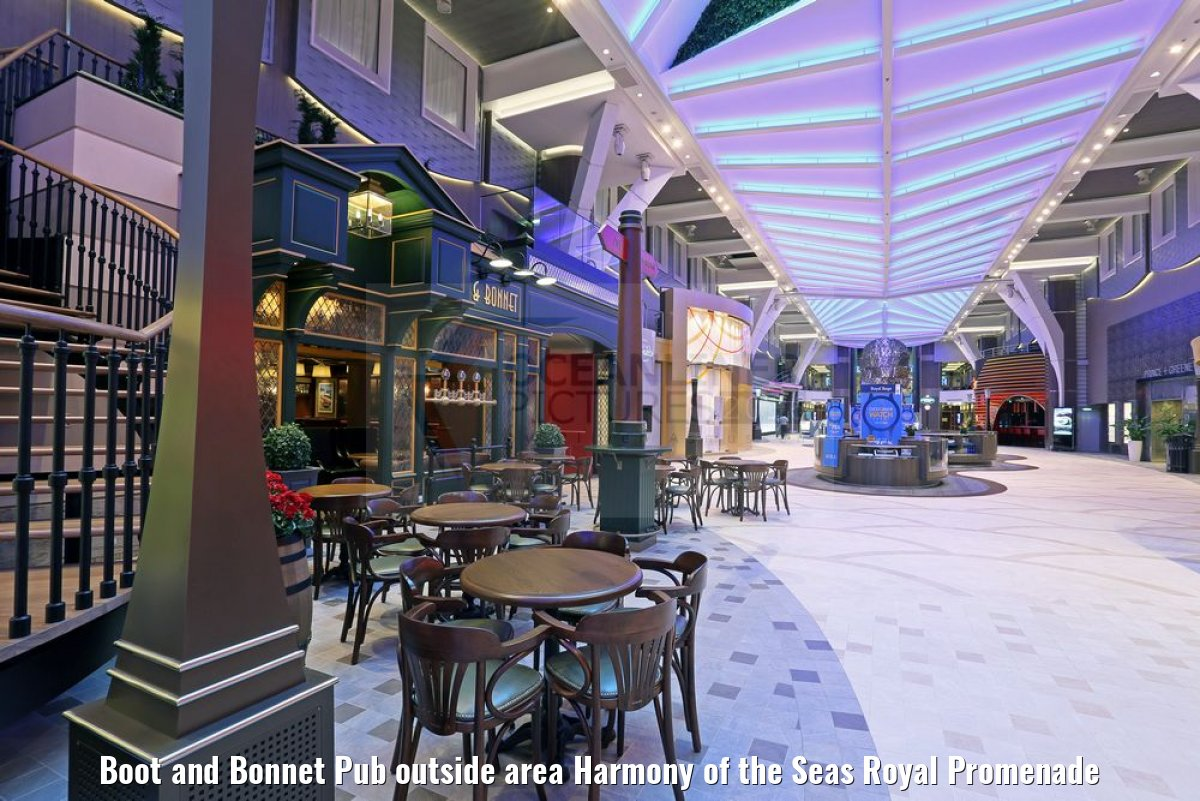 Boot and Bonnet Pub outside area Harmony of the Seas Royal Promenade