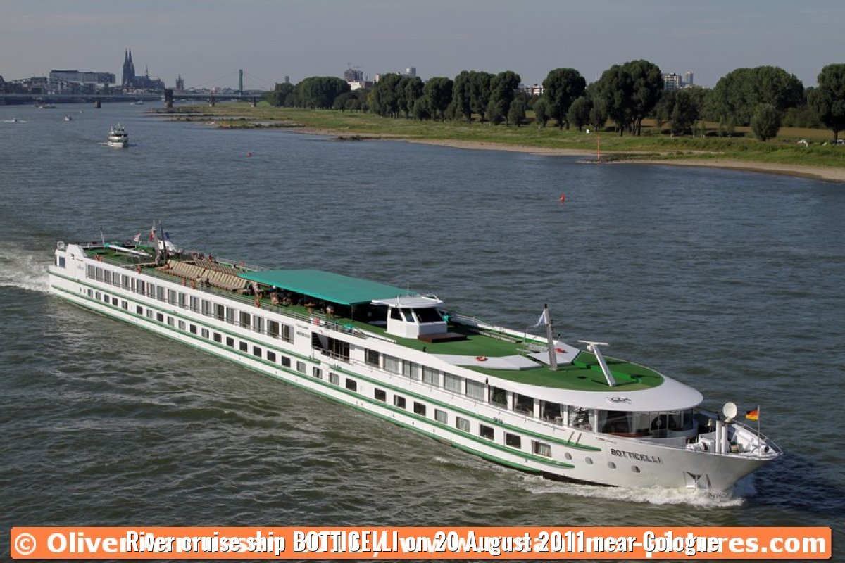 River cruise ship BOTTICELLI on 20 August 2011 near Cologne