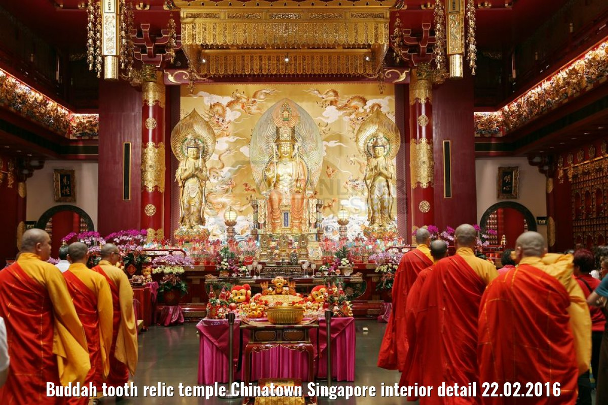 Buddah tooth relic temple Chinatown Singapore interior detail 22.02.2016