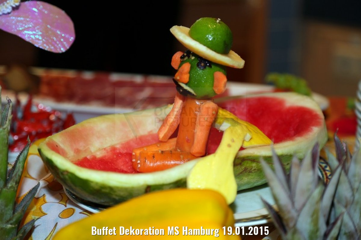 Buffet Dekoration MS Hamburg 19.01.2015