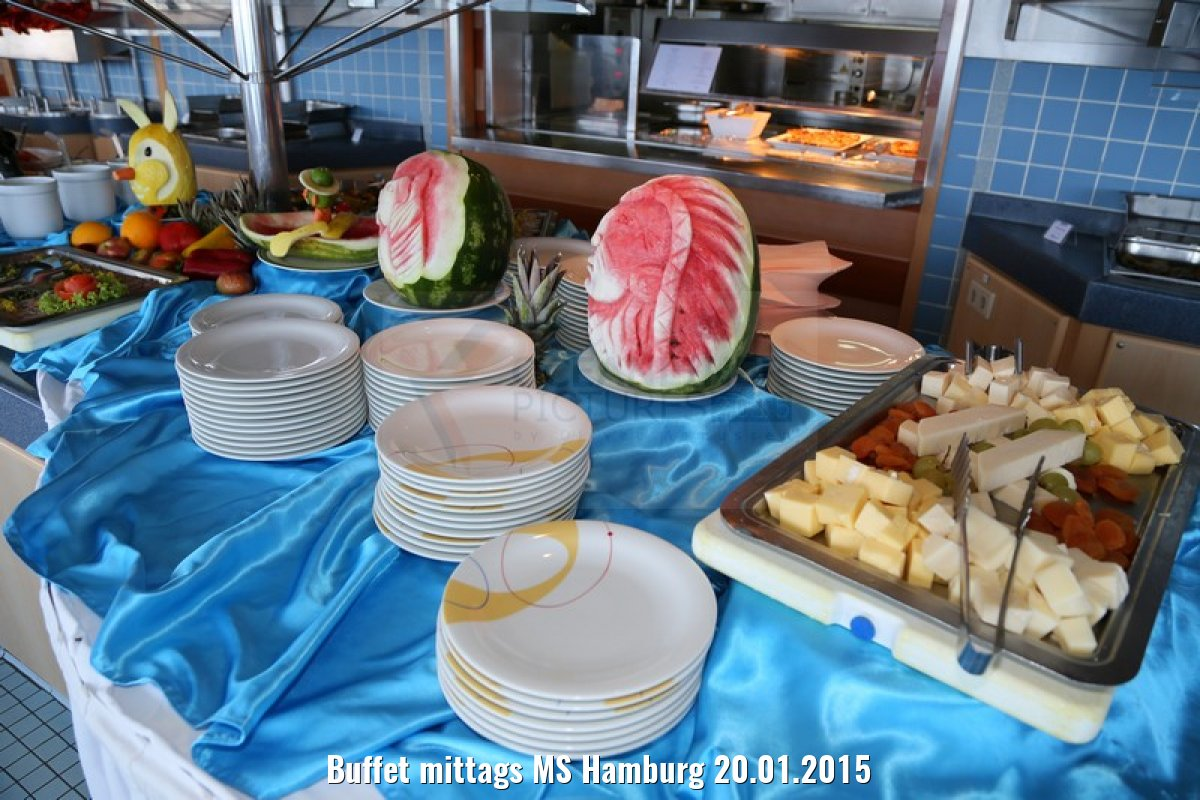 Buffet mittags MS Hamburg 20.01.2015