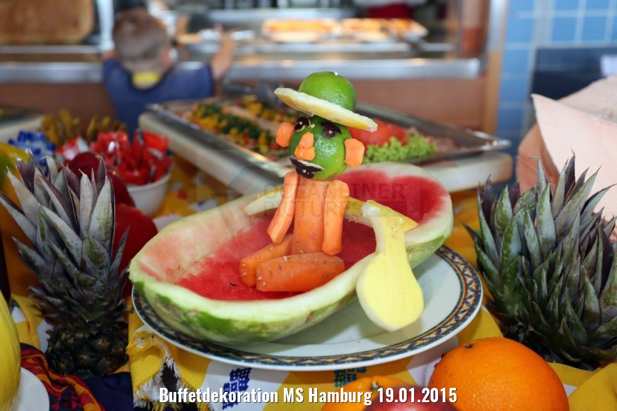 Buffetdekoration MS Hamburg 19.01.2015