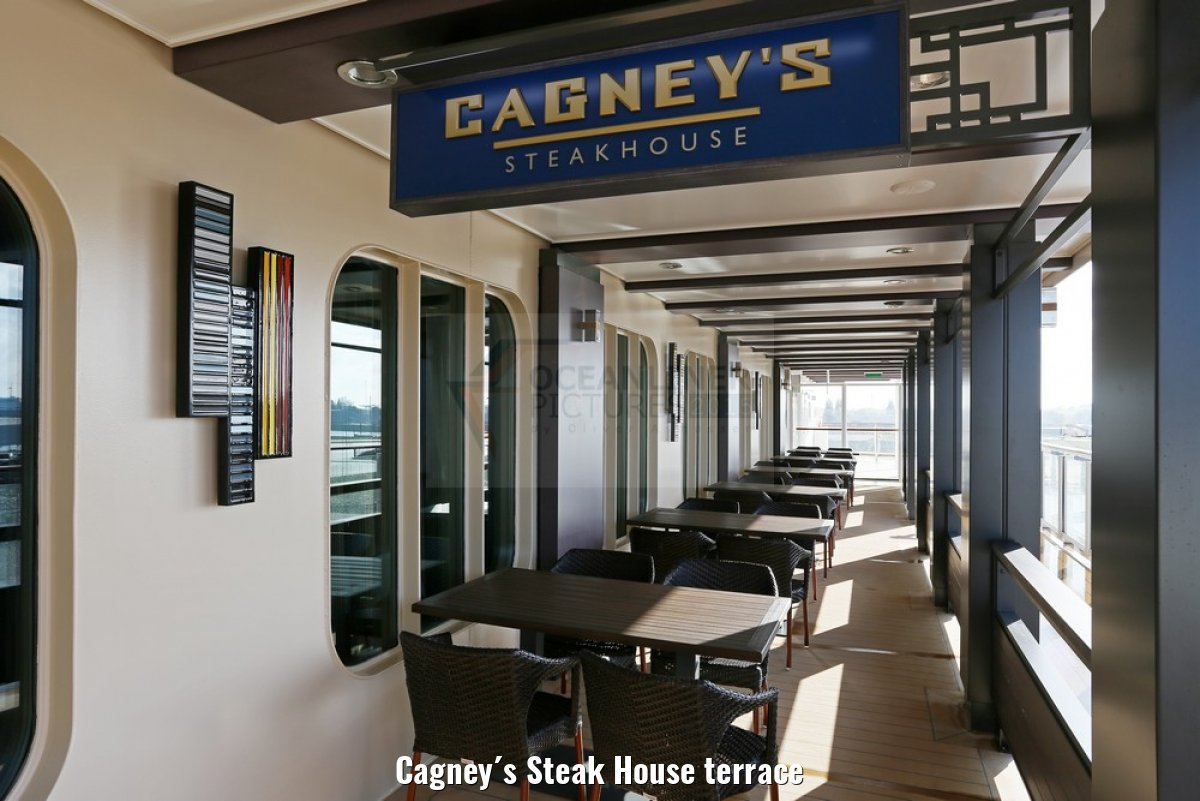 Cagney´s Steak House terrace