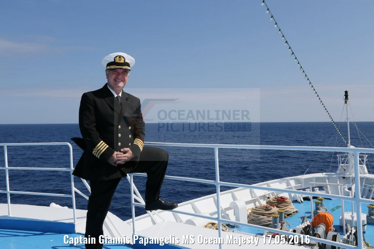 Captain Giannis Papangelis MS Ocean Majesty 17.05.2016