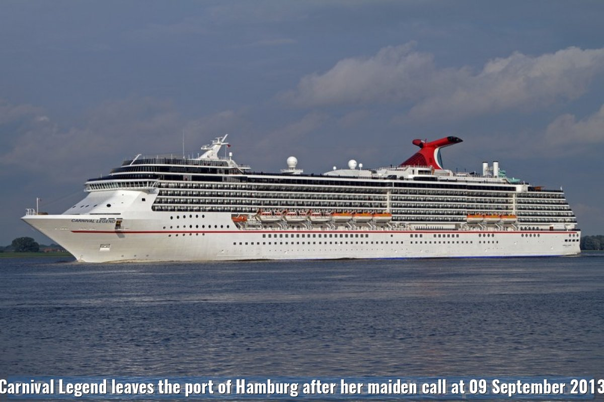Carnival Legend leaves the port of Hamburg after her maiden call at 09 September 2013