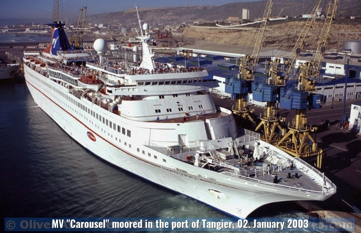 "MV ""Carousel"" moored in the port of Tangier, 02. January 2003"