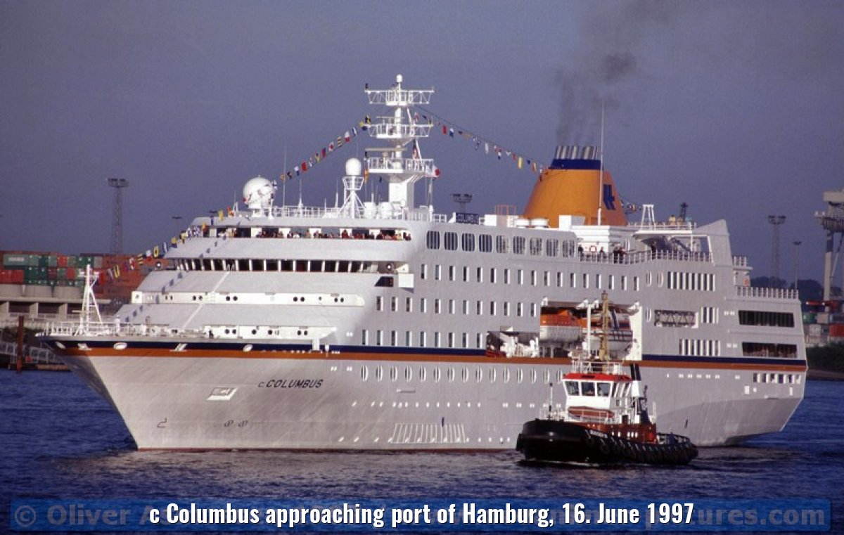 c Columbus approaching port of Hamburg, 16. June 1997