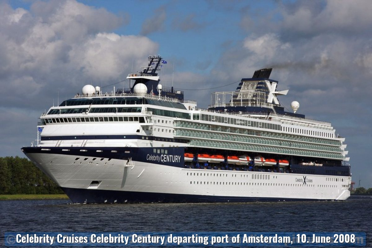 Celebrity Cruises Celebrity Century departing port of Amsterdam, 10. June 2008