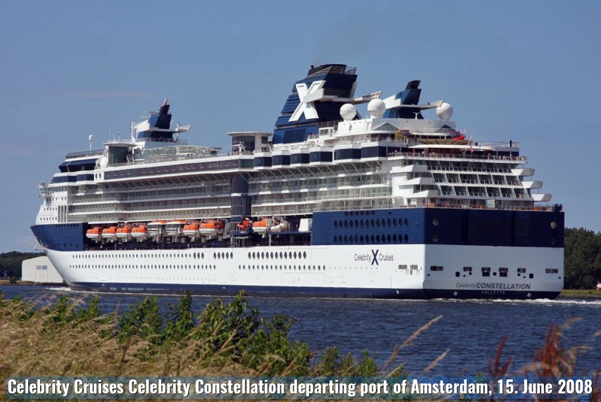 Celebrity Cruises Celebrity Constellation departing port of Amsterdam, 15. June 2008