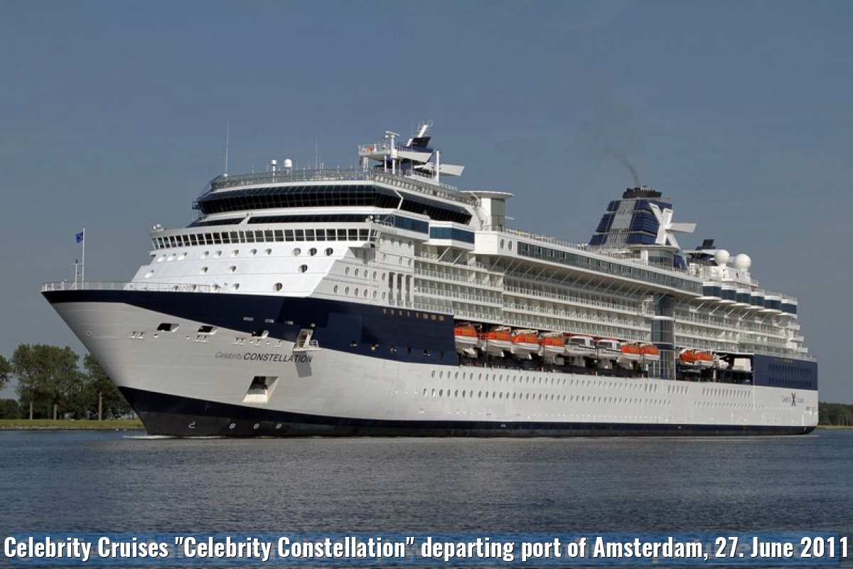 "Celebrity Cruises ""Celebrity Constellation"" departing port of Amsterdam, 27. June 2011"