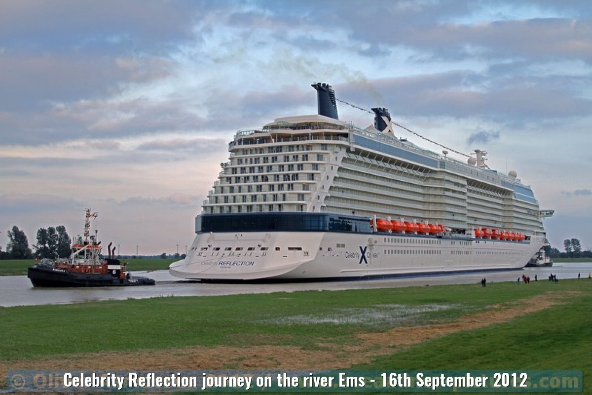 Celebrity Reflection journey on the river Ems - 16th September 2012