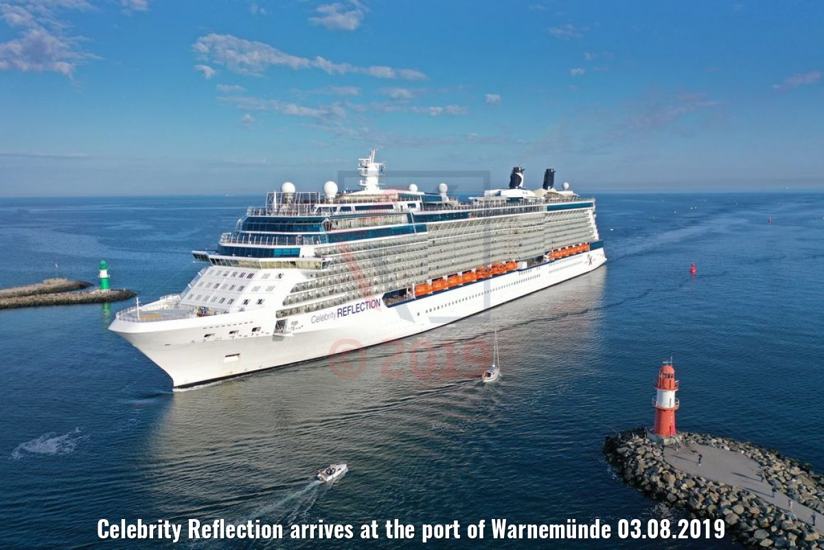 Celebrity Reflection arrives at the port of Warnemünde 03.08.2019